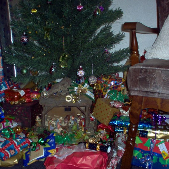 Nativity and presents