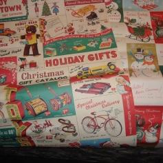 Retro gift wrap