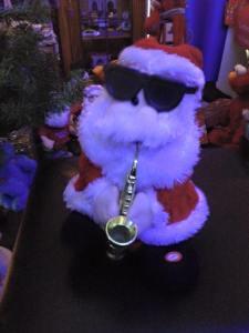 Santa on the sax