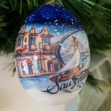 Dan Stevens Country Christmas Egg made in the USA