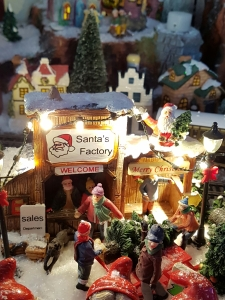Santa's factory in the Village