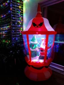 Big Santa in huge inflatable lantern