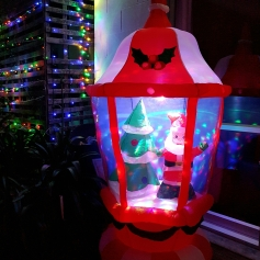 Big Santa in huge inflatable lantern