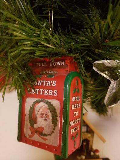 Hanging ornament, Santa postbox