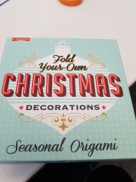 'Fold your own Christmas decorations seasonal orgami'