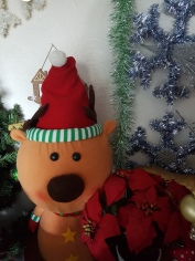 Large felt reindeer doll