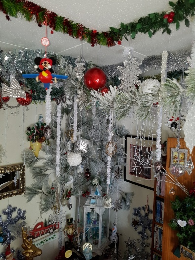 Lots of snowy boughs and glittery ornaments to celebrate 'Frozen'