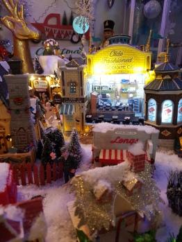 Scene of the Village in snow