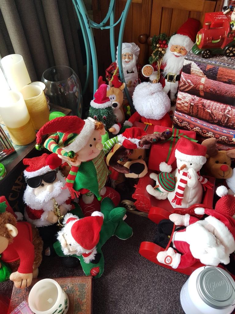 Toys - santas and snowmen