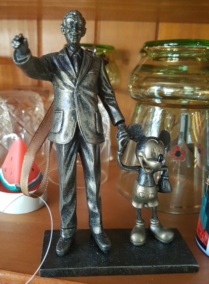 Walt Disney and Mickey ornament