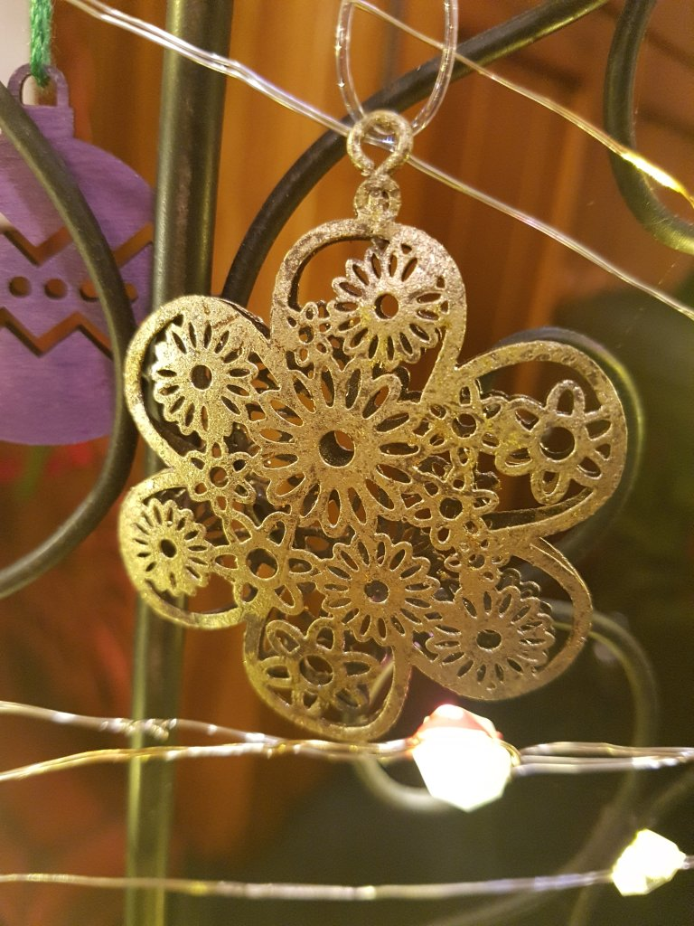 Brass coloured hanging ornament
