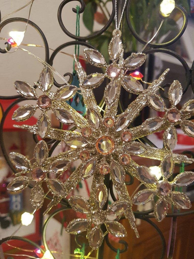 Sparkly tree ornament