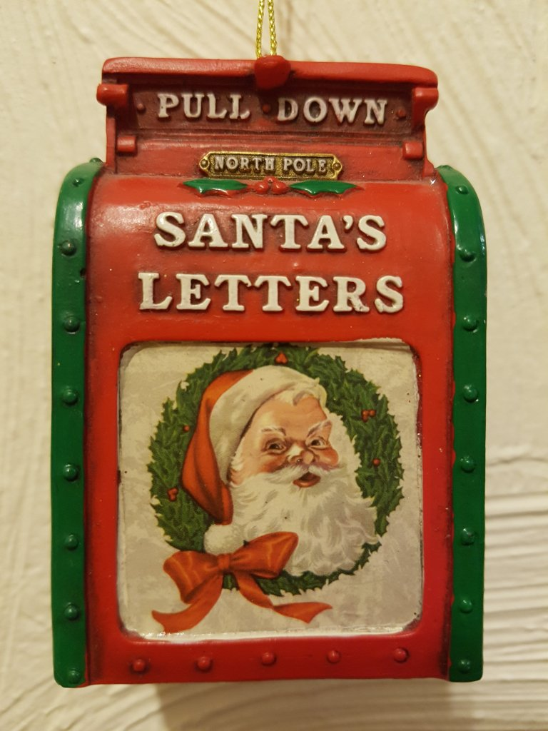 Old fashioned US style post box - Santa's Letters and a picture of Santa