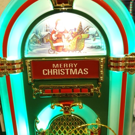 Lit up Christmas jukebox toy
